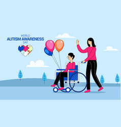 World autism awareness day concept vector