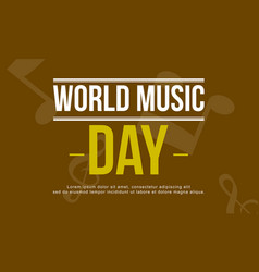 World music day art vector