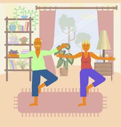 Yoga for seniors vector