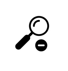 zoom out icon and magnifying glass concept vector image