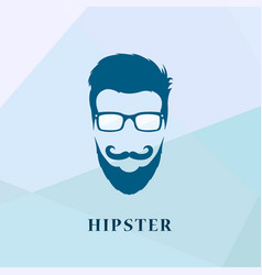 hipster people of glasses and a mustache vector image