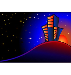 Night view vector image vector image