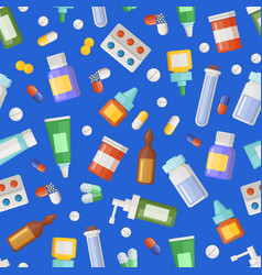 pharmacy medicines pills and potions vector image vector image