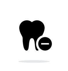 Remove tooth icon vector image vector image