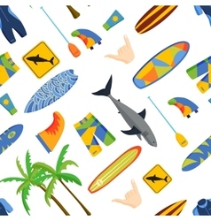 surfing pattern vector image vector image