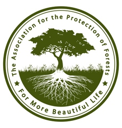 The Association for the Protection of Forests vector image