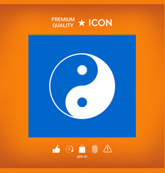 Yin yang symbol of harmony and balance vector