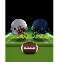 American Football Helmets and Ball Clashing vector image vector image