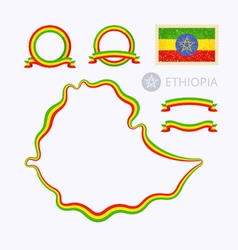 Colors of ethiopia vector