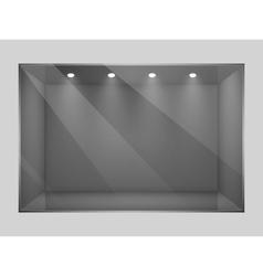 Glass empty show window of shop vector image