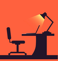home or office desk flat style vector image vector image