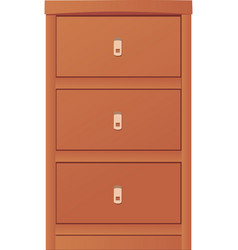 Light-colored simple cupboard vector image vector image