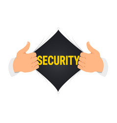 opening shirt security vector image
