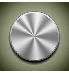 round stainless button vector image vector image