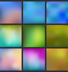 Set of Abstract colorful blurred background Can vector image vector image