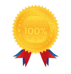 100 percent guarantee satisfaction quality vector image