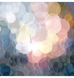 Abstract color shining circles background vector image vector image