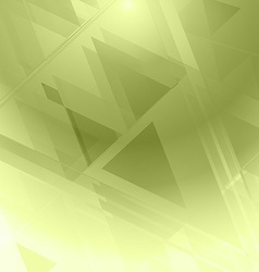 Background abstrac green geometric vector image vector image