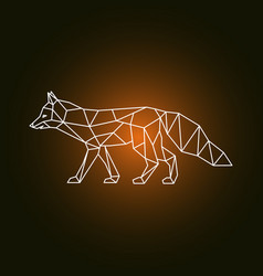 geometric form of a fox vector image vector image