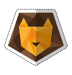 lion low poly style vector image