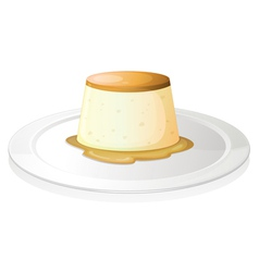 Puding vector image vector image