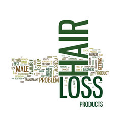best male hair loss products text background word vector image