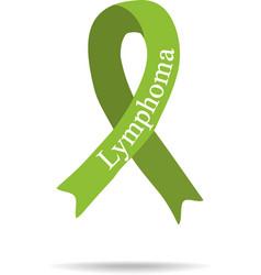Cancer Ribbon Lymphoma International Day of vector image vector image