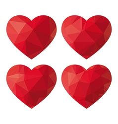 Heart Polygon vector image
