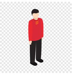 male singaporean isometric icon vector image