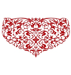 ornamental heart shape vector image vector image