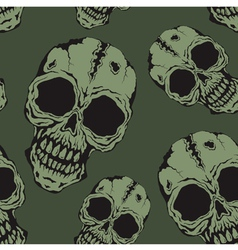 Pattern skull vector image vector image