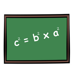 school chalkboard icon cartoon vector image