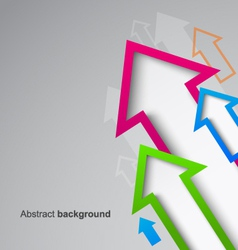 Abstract arrow background eps10 vector