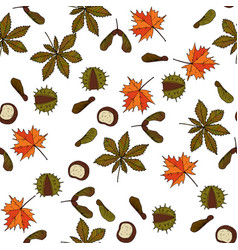 Autumn pattern vector