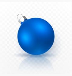 blue christmas ball xmas glass ball on vector image