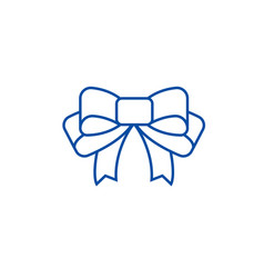 bow line icon concept bow flat symbol vector image
