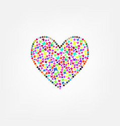 butterfly flying heart vector image