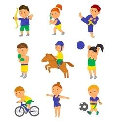 Cartoon sport kids for 2016 vector