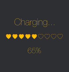 Charging heart bar vector