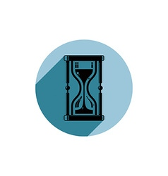 Classic sand-glass antique hourglass placed in a vector image