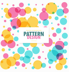 Colorful circles dots pattern background vector