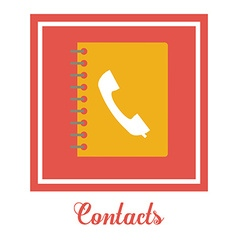 Contacts book design vector