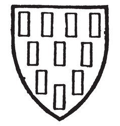 cowdray bore gules billety gold vintage engraving vector image