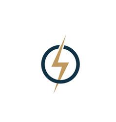 creative electric thunder concept logo design vector image