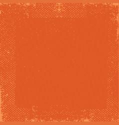 dark orange grunge vintage old paper background vector image