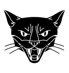 evil magic witch cat muzzle mystic alchemy vector image