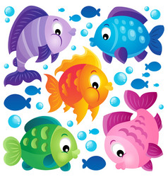 fish theme collection 2 vector image