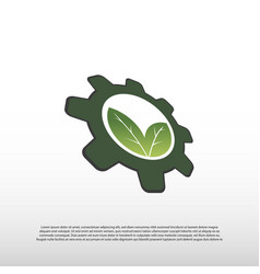 Future technology logo with nature concept vector