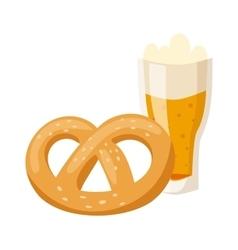 German breakfast pretzel beer vector