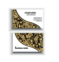 Gold and black background Floral templates vector